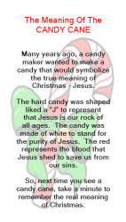 The Meaning Of The Candy Cane - tells how the candy cane was made to ...